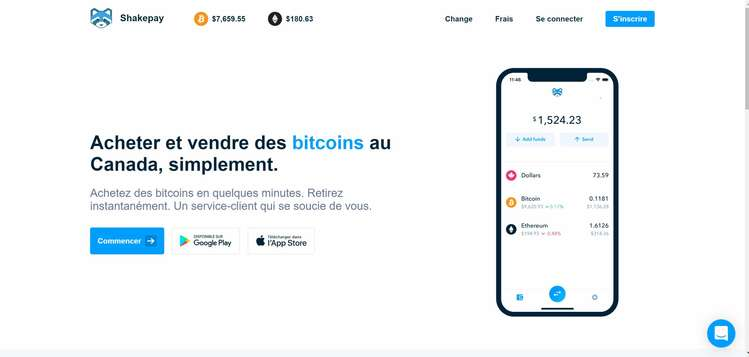 01 Shakepay Acheter Vendre Bitcoin au Canada md
